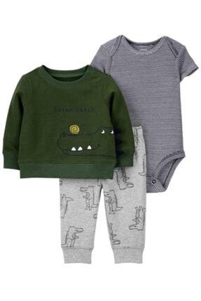 Carter's Erkek Bebek 3'lü Timsah Desenli Üst,body Ve Pantolon Set