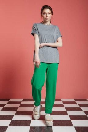 Mizalle Kadın Basic T-shirt (gri)
