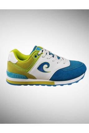 Pierre Cardin Unisex Mavi Yeşil Spor Ayakkabı Pcs-70806