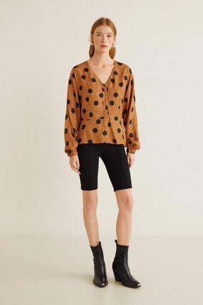 MANGO Woman Kadın Kahverengi Bluz 41043016