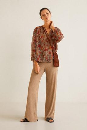 MANGO Woman Kadın Kahverengi Bluz 41095032