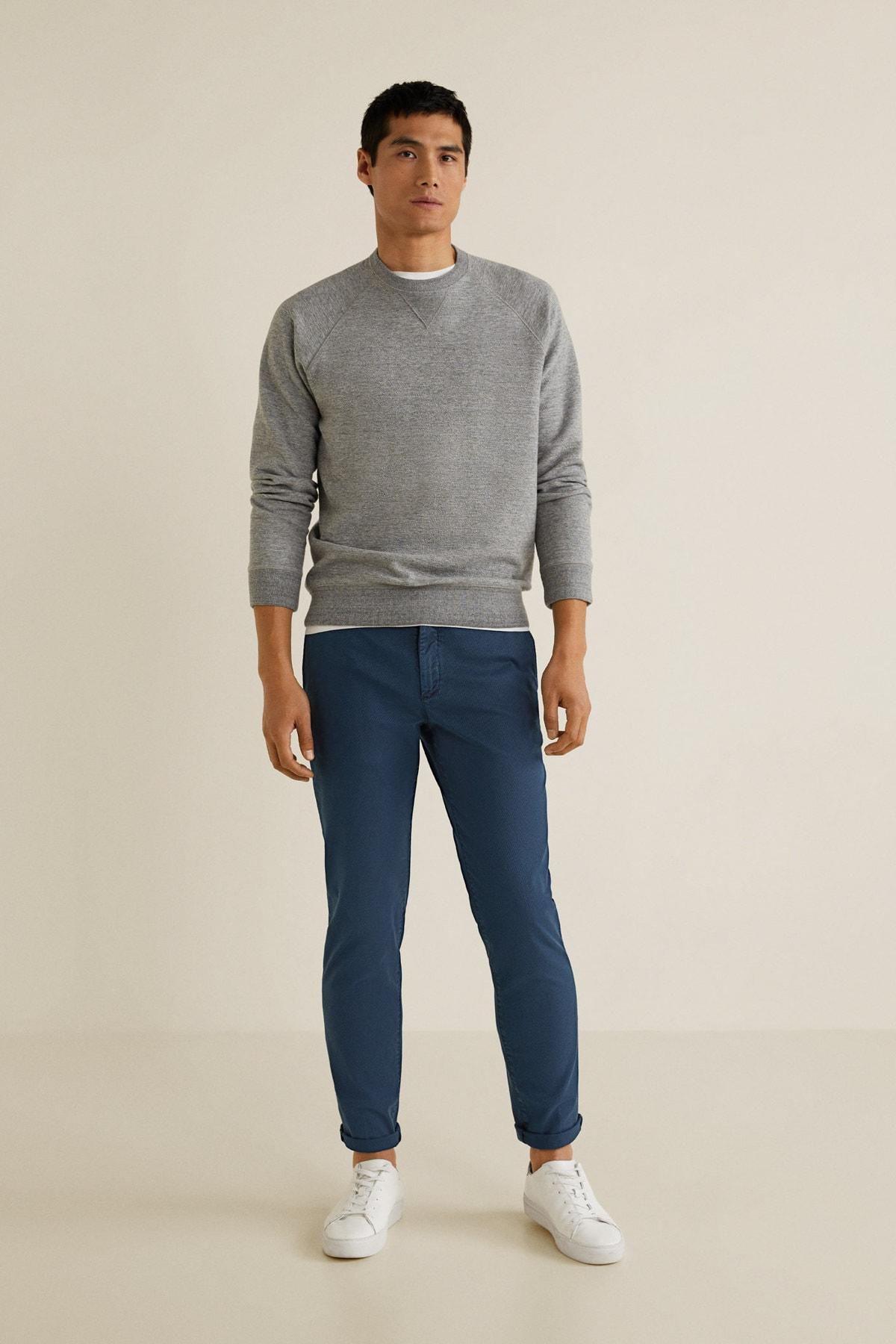 MANGO Man Erkek Lacivert Pantolon 2