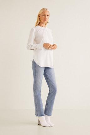MANGO Woman Kadın Beyaz Bluz 31027034