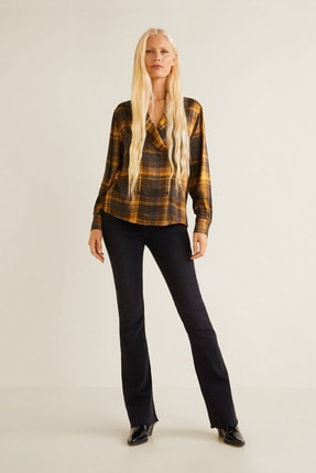 MANGO Woman Kadın Kahverengi Bluz 31077032