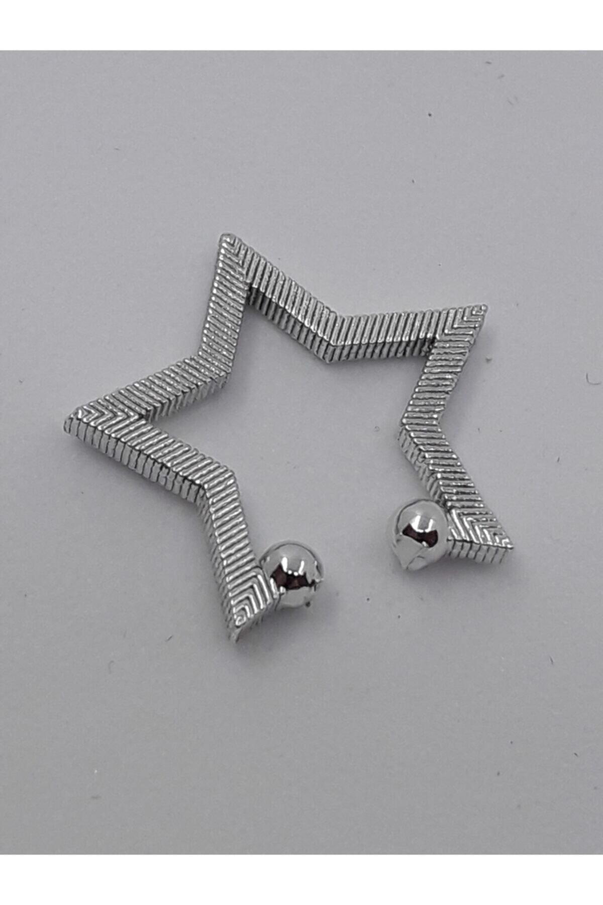 KIVANC ACCESSORİES Kıkırdak Yıldız Küpe Silver 1