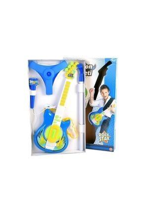 Mega Oyuncak Gitar Seti Ve Mikrofon Mavi