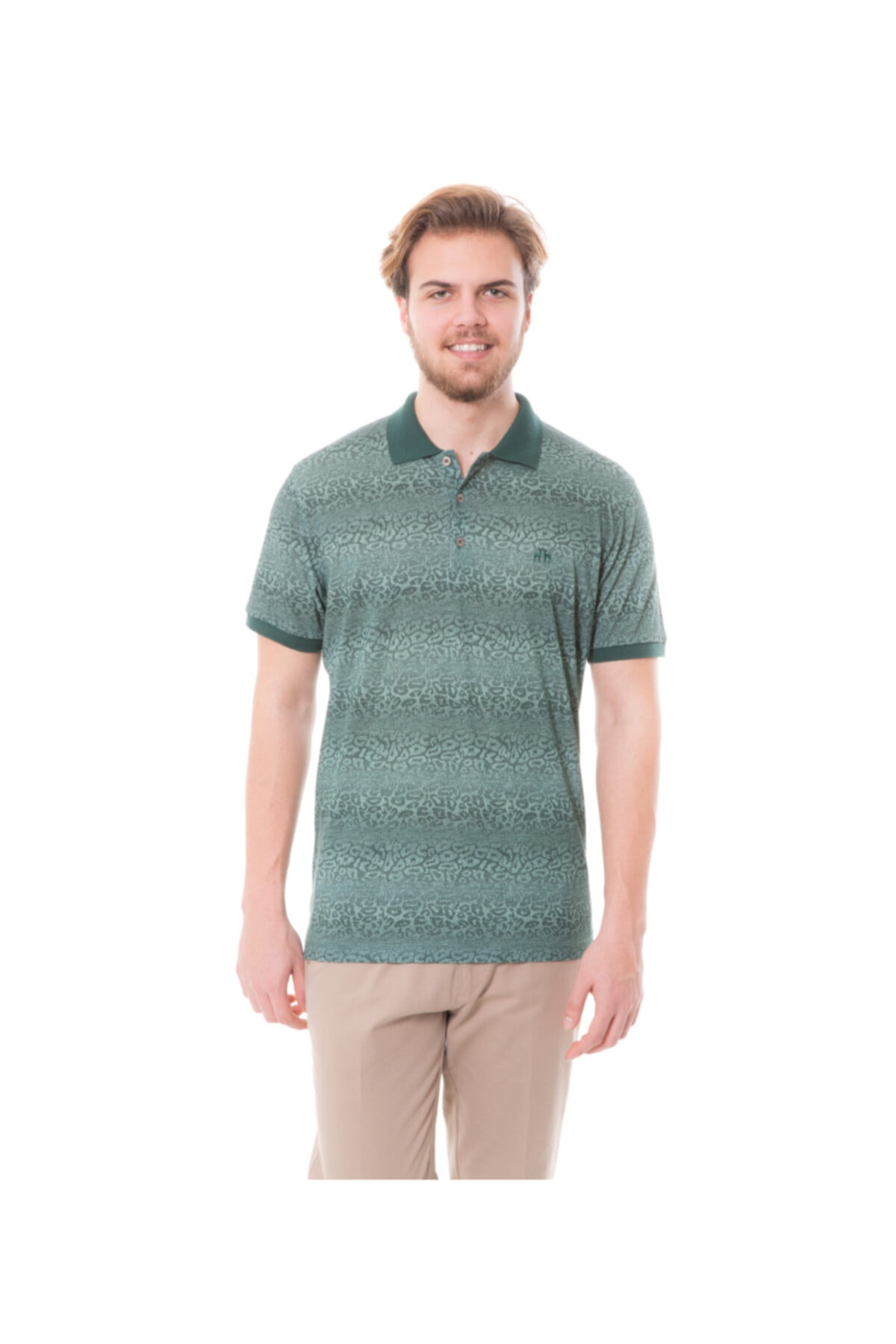 Karaca Erkek Yeşil Polo Yaka T-shirt 1