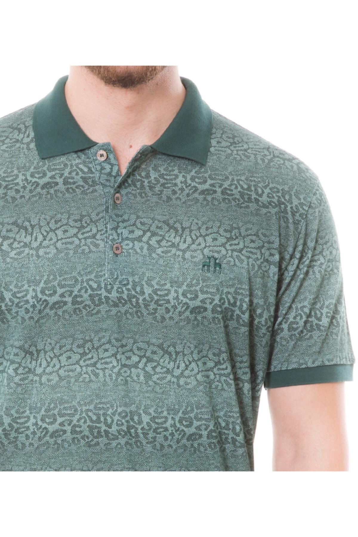 Karaca Erkek Yeşil Polo Yaka T-shirt 2