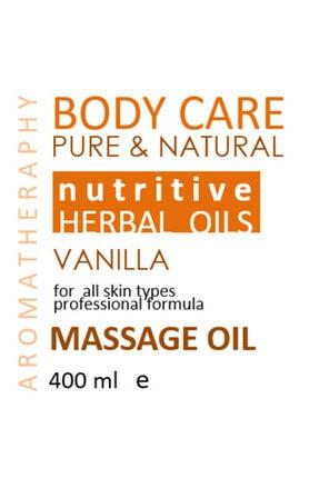 SALİ NATUREL Vanilya Aromaterapi Etkili Doğal Vücut Bakım & Masaj Yağı 400ml Özel Üretim