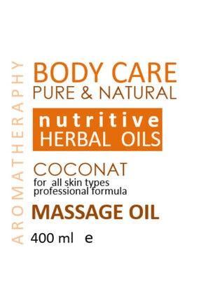 SALİ NATUREL Hindistan Cevizi Aromaterapi Etkili Doğal Vücut Bakım & Masaj Yağı 400ml Özel Üretim