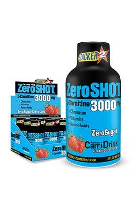 Zero Shot 60 ml 3000 Mg L-carnitine 12 Adet - Çilek Aroma -