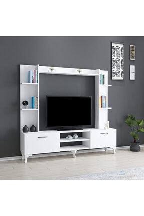 ARNETTİ Rena Tv Ünitesi Yaşam Odası, Salon, Ve Oturma Odası, Tv Sehpası Beyaz