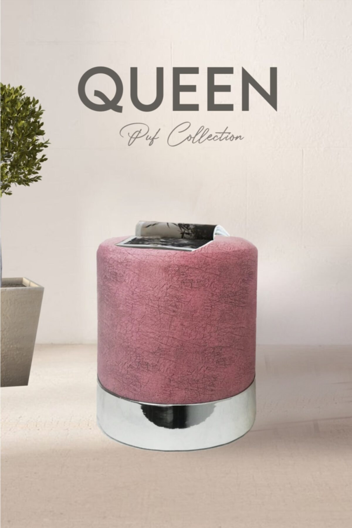 Zem Queen Rose - Silver Puf 1