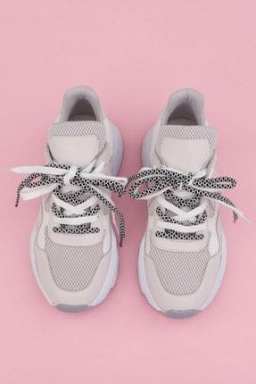Marjin Kadın Beyaz Sneaker Dolgu Topuk Spor Ayakkabı Anka
