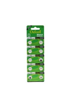 Oxford Ag1 Lr621/364a Alkalin 10 Lu Düğme Pil