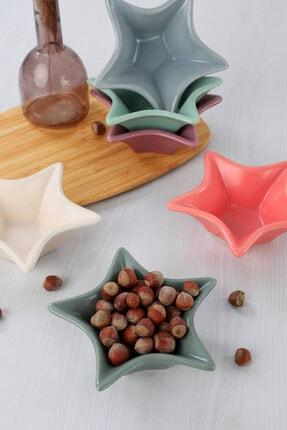 Keramika Rainbow Yıldız Çerezlik / Sosluk 16 Cm 6 Adet