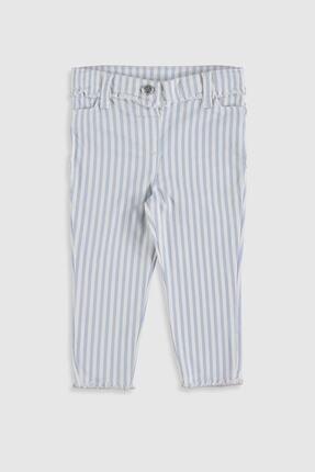 LC Waikiki Kız Bebek Açık Mavi Çizgil Leh Pantolon