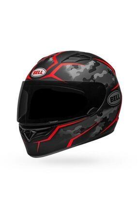 Bell Qualifier Stealth Camo Mat Siyah Kırmızı Motosiklet Kaskı