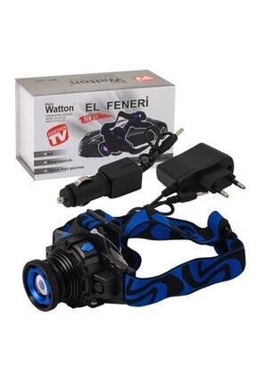 Black Watton Watton Wt-121 Q5 Şarjlı Mercekli Kafa Feneri