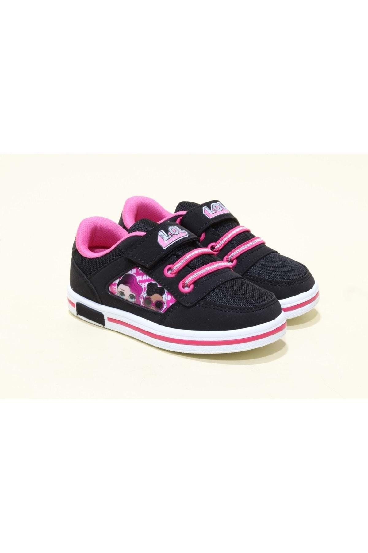 LOL Kız Çocuk Siyah Aryın Ortopedic Sneakers Ayakkabı 1