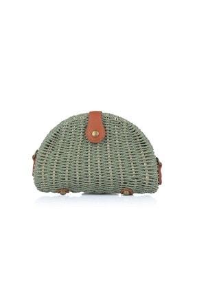Oblavion Kadın Yeşil Hasır Çanta 1008