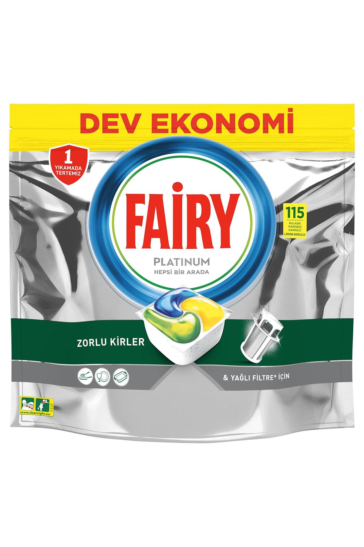 Fairy Platinum 115 Yıkama Bulaşık Makinesi Deterjanı Kapsülü Limon Kokulu 2