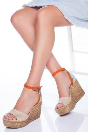 derithy Kadın Multi Renkli Dolgu Topuklu Ayakkabı