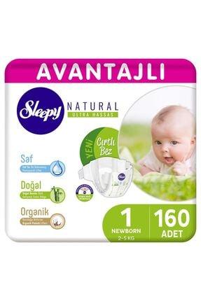 Sleepy Natural Avantajlı Bebek Bezi 1 Numara Yenidoğan 160 Adet
