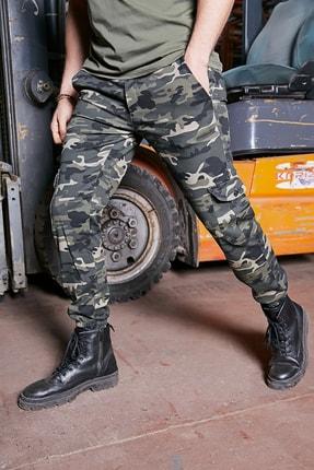 Sateen Men Erkek Kamuflaj Komando Jogger Pantolon