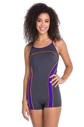 Dagi Kadın Gri Füme Şortlu Yüzücü Mayo B0119Y0008