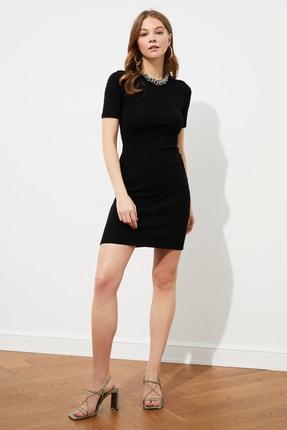 TRENDYOLMİLLA Siyah Mini Örme Elbise TWOSS19AD0053