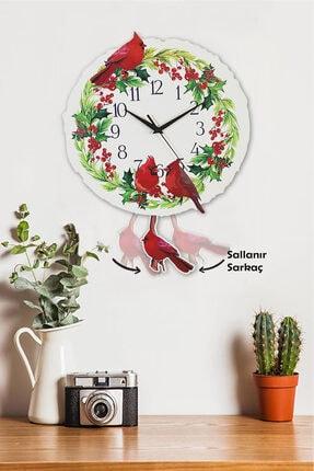 Sokaktaki Hediyem Kuş Bahçesi Sallanır Sarkaçlı Duvar Saati