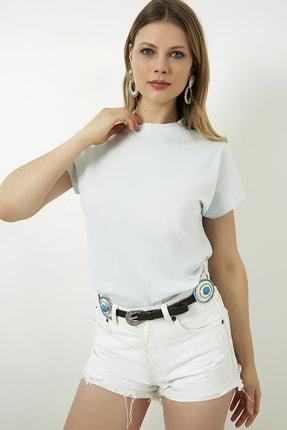 Vis a Vis Kadın Mint Kolsuz Basic Örme T-Shirt STN878KTS134