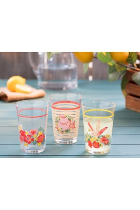 Madame Coco Flamingo 3'lü Su Bardağı Seti