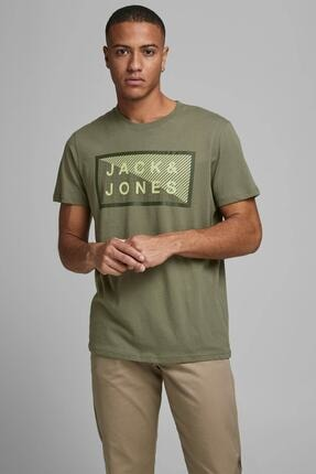 Jack & Jones Jcoshawn Erkek Yeşil T-shirt -12185035