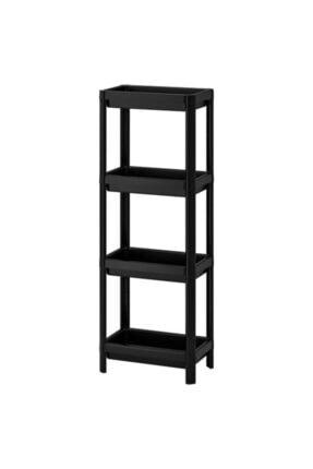 IKEA Banyo Raf Ünitesi Meridyendukkan Siyah Pratik Raf Ünitesi 36x23x100 Cm