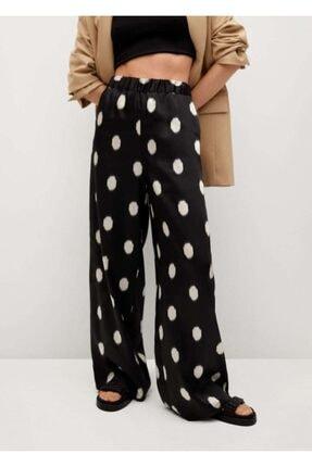 MANGO Woman Siyah Pantolon