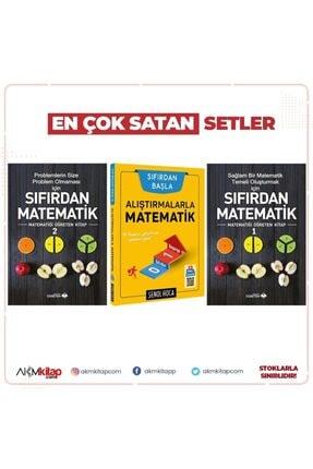 Akm Kitap Sıfırdan Adım Adım Matematik 1 Ve 2 Ile Şenol Hoca Alıştırmalarla Matematik Soru Bankası 3 Kitap Set