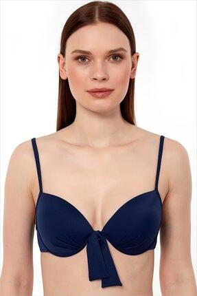 AYYILDIZ Kadın Lacivert Push-Up Bikini Üstü 63545/D2036