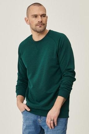 AC&Co / Altınyıldız Classics Erkek Yeşil Standart Fit Günlük Rahat Bisiklet Yaka Spor Sweatshirt