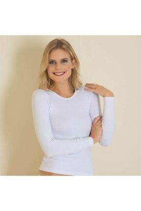Anıl Kadın Beyaz Termal Uzun Kol T-Shirt