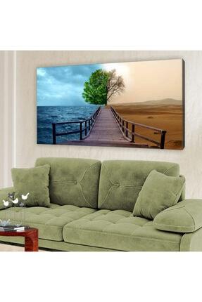 hanhomeart Yeşillik Kuraklık Kanvas Tablo 60x120cm