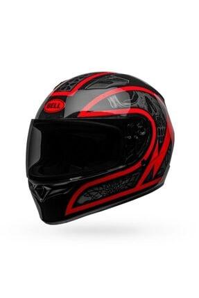 Bell Qualifier Scorch Gloss Siyah Kırmızı Motosiklet Kaskı