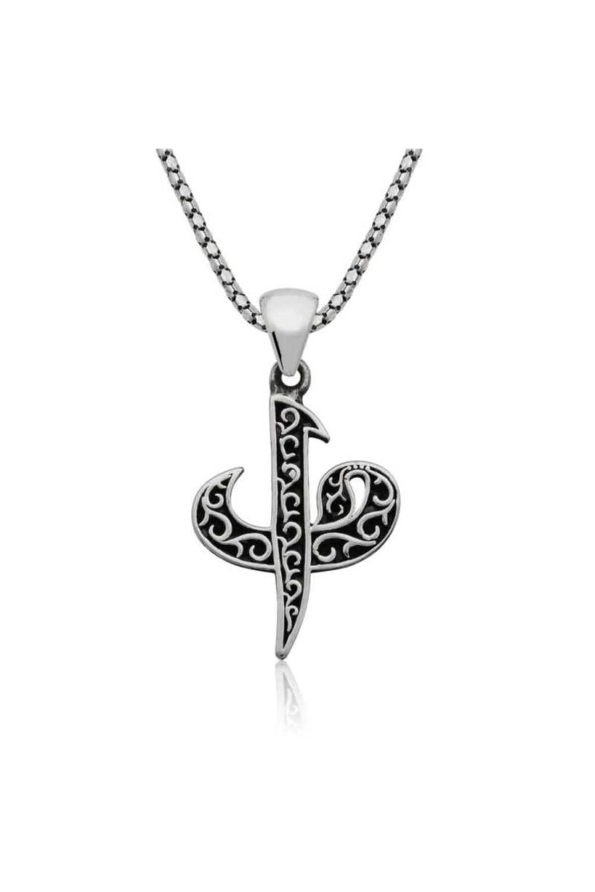 Silverplus Kadın Gümüş Elif Vav Kolye 864 1