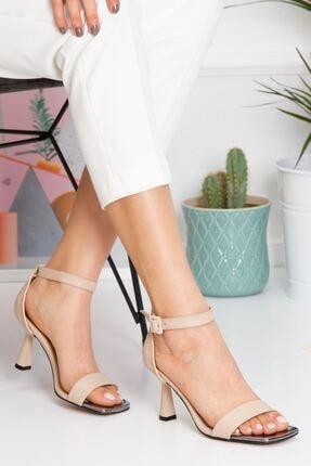 derithy Kadın Bej Topuklu Ayakkabı byc1701