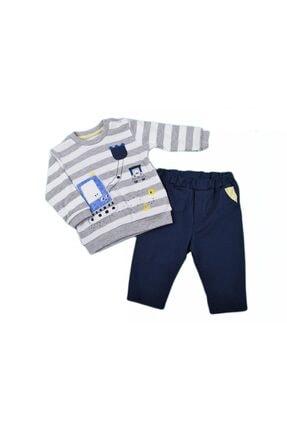 Alya Baby Kids Unisex Çocuk Sarı Kepçe Çizgili 2Li Takım 2630