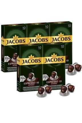 Jacobs Espresso 10 Intenso Kapsül Kahve 10 Adet 5 Paket