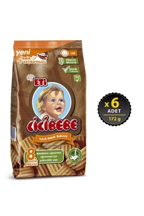 Eti Cicibebe Tahıllı Bebek Bisküvisi 172 g x 6 Adet