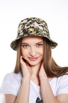 Y-London 14011 Desenli Haki Bucket Şapka