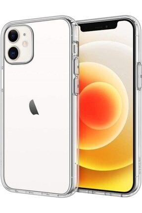 VİNNMOOD Iphone 12 Uyumlu Kılıf Antishock Silikon Köşeli Şeffaf Airbag Arka Kapak